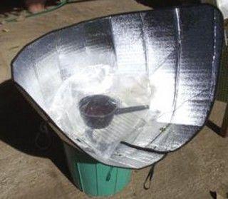 cocina solar portatil conica