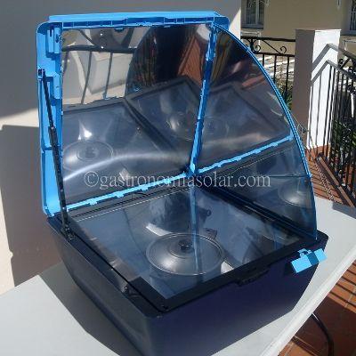 horno solar sun cook reflector lateral